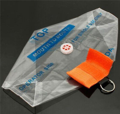 CPR Mask With Keychain Bag Emergency Face Shield First Aid Rescue Kit Disposable