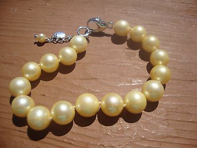 Freshwater pearl bracelet with sterling silver extn