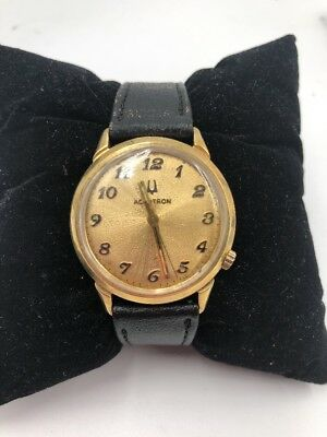Vintage Bulova Accutron Wrist Watch 14k Gold Case
