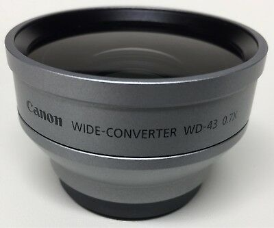 Canon 43mm Wide Angle Converter WD-43 0.7x Lens