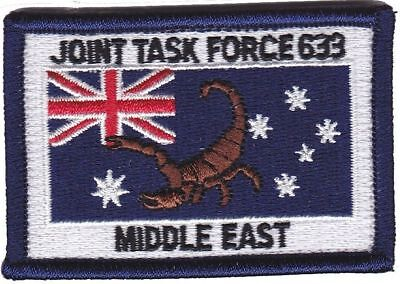 Army Australia JTF633 Middle East Deployment Patch hook backing
