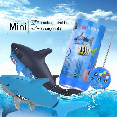 Mini RC Submarine 4 CH Remote Small Sharks With USB Christmas Gift for Child  LN