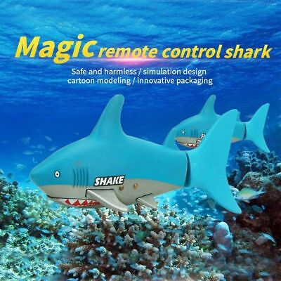 Mini Radio Remote Control RC Shark Fish Kids Electric Water Game Toy Gift  LN