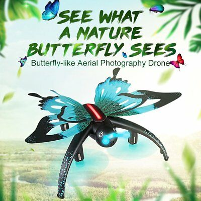 Mini Butterfly RC Quadcopter 4CH FPV 0.3MP 6-Axis Camera Drone 3D Flying H42W LN