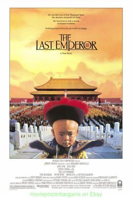 THE LAST EMPEROR MOVIE POSTER 27x41 Original RARE Rolled 1987 BEST PICTURE