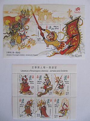 Macau - 2000 Journey to the West + 1998 Vasco Da Gama mint stamps