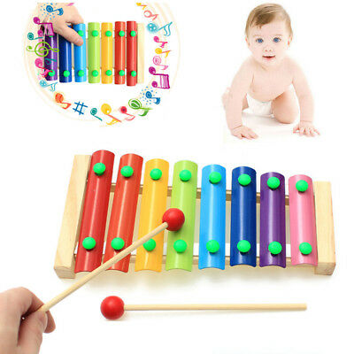 Educational Toy Wooden Toy Musical Instrument 8 Note Xylophone Octave Piano he7