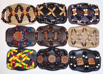 """Double Hair Combs, Angel Wings Clips 4X3.5"""", African Butterfly, Quality S72"""
