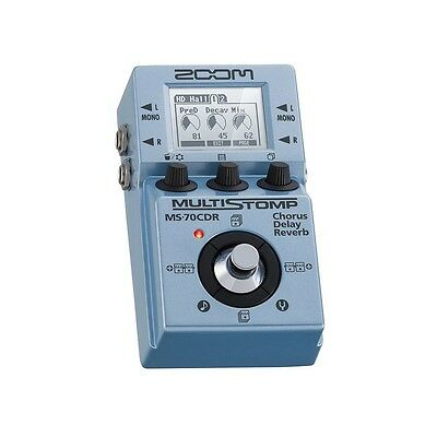 Zoom MS-70CDR MultiStomp Chorus/Delay/Reverb Pedal NEW F/S From Japan