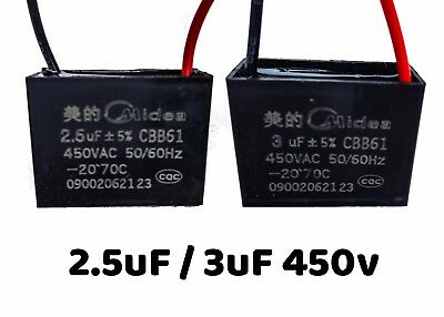 Capacitor 1.8uF 450V For Electric Motor to Start / Run 1 uF=1 MF=1 MFD