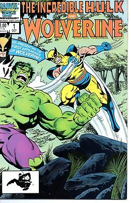 Incredible Hulk and Wolverine #1 (October 1986, Marvel) Reprints 1st Wolverine
