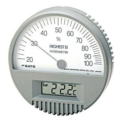 SATO 7542-00 Highest II Hygrometer with Thermometer From Japan with Tracking