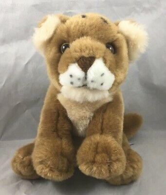 Telus Lion Cub Wild Cat Baby Plush Toy Spokescritters 2011 K&M International 7""
