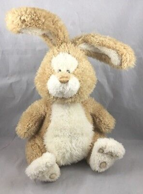 Justabunny Gund 36302 Tan Brown Cream Bunny Rabbit Soft Plush Toy Bendable 10""