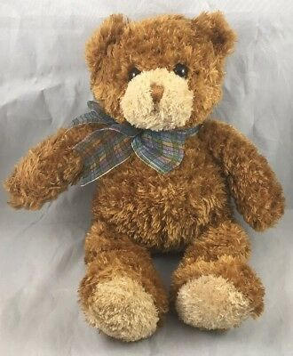 Dylan Bear Gund 15102 Teddy Cub Brown Soft Cuddly Plush First Lovey Toy Bow 12""