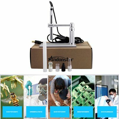 5MP USB 500X 8 LED Digital Microscope Endoscope Magnifier Camera+Lift Stand Hot