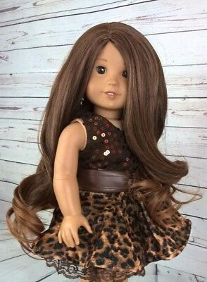 "10-11 Custom Doll Wig fit Blythe-American Girl-1/4 Size ""Chocolate Toffee"" bn1"