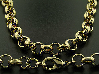 Luxury Belcher Chain Necklace - 18K Gold Filled - Men's - 10mm, 24 inch Bling