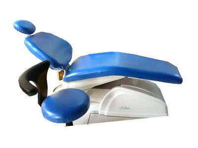 Dental Chair Unit Cover Sleeves PU Headrest Stool Protector Blue Color * 1 SET