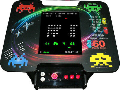 60 Games Cocktail Arcade Video Game Machine - Quality Australian Made