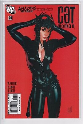 Catwoman 70 (VF/NM 9.0) 2007 Classic sexy Adam Hughes cover  2002 series