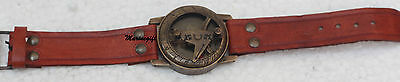 Nautical Maritime Brass Vintage compass Wrist Watch Type-Working Marine Compass