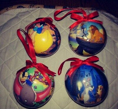 Lot of 4 - Disney Macrema Christmas Ornaments - Great Condition!!