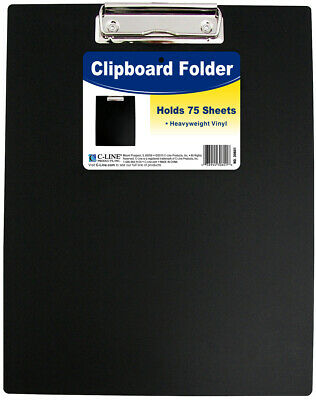 C-Line-Clipboard Folder. Securely Hold Up To Seventy-Five Sheets Of Paper In Thi