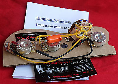 Ready Built Fender USA 7-Way Gilmour Stratocaster Strat Wiring Upgrade/Loom