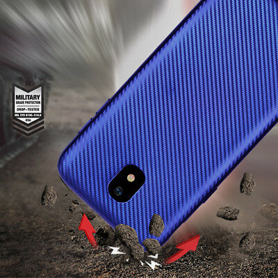 Ultra Slim Luxury Carbon Fiber Texture  Case Cover For Samsung J3 J5 J7 2017 EU