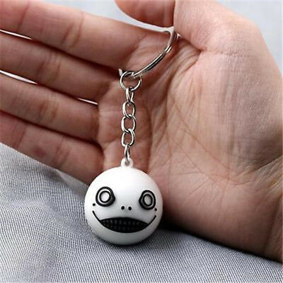 Game NieR Automata 9S 2B Keychain Emil Mask Pendant Keyring Gift cosplay