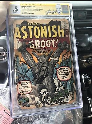 Tales To Astonish 13 Signed Stan Lee CGC First GROOT