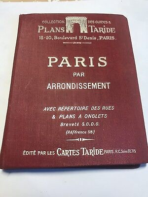 Rare Ancien Plan Taride Paris