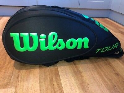 Wilson Blade Lime Green Black 6 Racket Bag