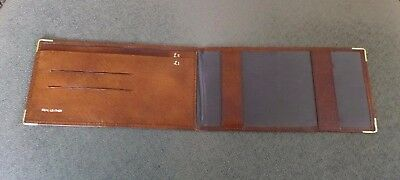 Vintage Brown Real Leather Cheque Book & Money Holder/Wallet in Great Condition