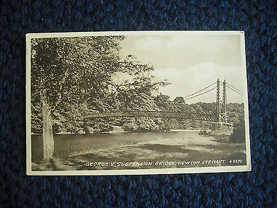 Postcard  George V Suspension Bridge, Newton Stewart, Scotland