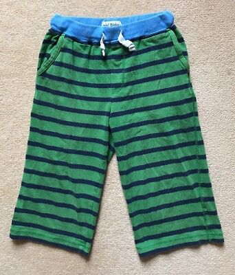 Mini Boden Boys Green/Navy Striped Cotton Shorts, Age 11 Years