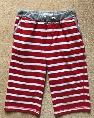 Mini Boden Boys Red/White Striped Cotton Shorts, Age 11 Years