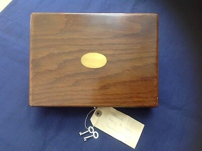 Top Quality Tackle Box - Oak And Brass