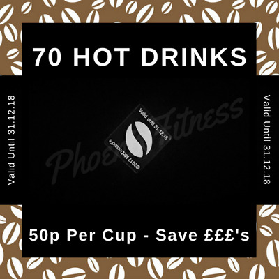 McDonalds Coffee Loyalty Card Voucher Stickers - 70 Hot Drinks only 50p Per Cup!