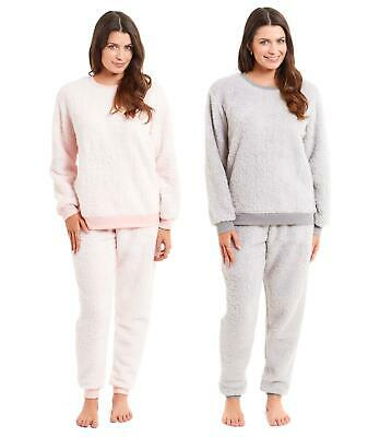Women's Snuggle Fleece Pyjamas Twosie, Soft Fluffy Pyjama Set PJs, Size 8-22