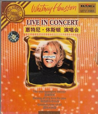 Whitney Houston Live in Concert Classic BMG Series China 2VCD w/slipcase Sealed