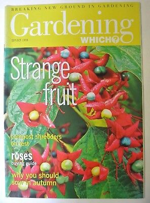 Gardening Which? Magazine. September/October, 1999. Strange fruit. Roses buying.