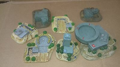 1/300 scale 6mm painted desert buildings. X Wing, Battletech and Epic 40k.