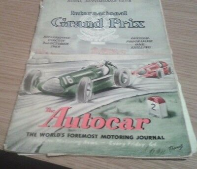 1948 First British Grand Prix official programme Silverstone plus booking form