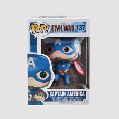 Marvel Movie Captain America Civil War Funko Pop Bobble head Vinyl Action Figure