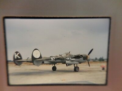 Usaf Lockheed P-38 Lightning Original Kodachrome Slide Jun 70