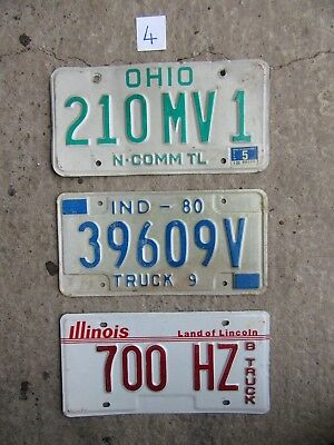 American license plates x3 for £12.