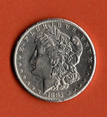 1881 Morgan Dollar Silver - San Francisco Mint - Unc