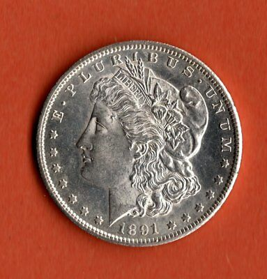 1891 Morgan Dollar Silver- San Francisco Mint - Uncirculated